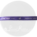 10mm purple personalised printed custom bespoke double faced satin ribbon 20m roll