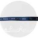 10mm navy blue personalised printed ribbon 20m roll