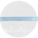 10mm pale blue personalised printed ribbon 20m roll