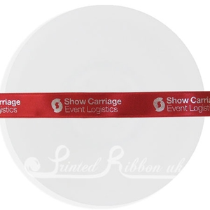 PR15CRED25M RED 15mm Personalised Printed Satin Ribbon - 25m Roll