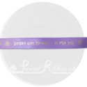 15mm wide light purple bespoke custom printed personalised satin ribbon 25m roll