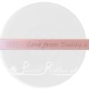 15mm Light pale pink custom printed personalised double faced satin ribbon 25m roll