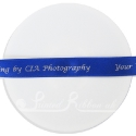 15mm bespoke custom printed royal blue double faced satin ribbon personalised ribbon by roll