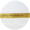 15mm gold personalised custom printed satin ribbon with your own message by the 25m roll
