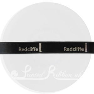 PR15BLCK25M BLACK 15mm Personalised Printed Satin Ribbon - 25m Roll