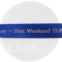 25mm wide royal blue personalised printed bespoke satin ribbon