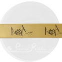 25mm Bronze ribbon with personalised bespoke print - 25m roll