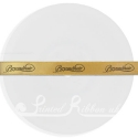 10mm wide personalised printed custom double faced gold satin ribbon 20m roll