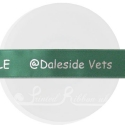 25MM CUSTOM PRINTED BESPOKE PERSONALISED GREEN DOUBLE FACED SATIN RIBBON 20M ROLL