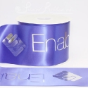 100mm Personalised printed custom bespoke double faced satin royal blue ribbon 50m roll