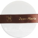 25mm wide chocolate brown personalisedcustom printed satin ribbon