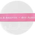 25mm wide hot pink printed ribbon personalised satin ribbon roll