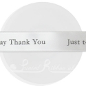 25mm IVORY Custom printed satin ribbon personalised message 25m roll