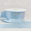 50mm Light Blue, printed ribbon 50m roll bespoke personalised printed satin ribbon