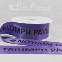 50mm Light Purple, printed ribbon 50m roll bespoke personalised printed satin ribbon