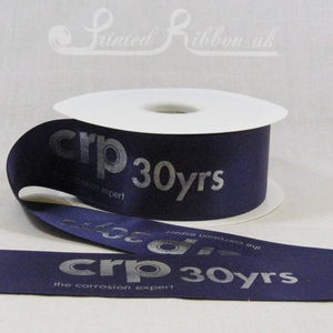 PR50PURP50M PURPLE 50mm Personalised Printed Satin Ribbon - 50m Roll
