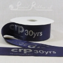 50mm Purple, printed ribbon 50m roll bespoke personalised printed satin ribbon