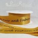 50mm Bronze custom printed bespoke personalised double faced satin ribbon 50m roll cheap price