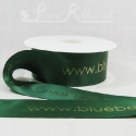 50mm Green, printed ribbon 50m roll bespoke personalised printed satin ribbon