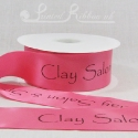 50mm Hot Pink, printed ribbon 50m roll bespoke personalised printed satin ribbon