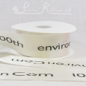 50mm Ivory, printed ribbon 50m roll bespoke personalised printed satin ribbon