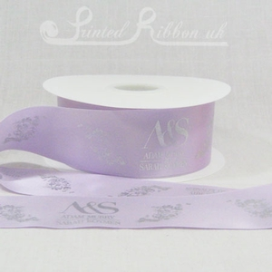 PR50LILC50M LILAC 50mm Personalised Printed Satin Ribbon - 50m Roll