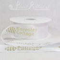 50mm white custom printed personalised double faced satin ribbon 50m roll length