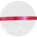 10mm fuchsia printed ribbon, satin ribbon, personalised ribbon, bespoke ribbon 25m roll