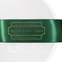 38mm Green personalised, bespoke, printed ribbon 50m