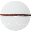 7mm brown personalised wedding ribbon 25m