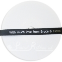 10mm wide personalised printed black satin wedding ribbon custom printed wedding ribbon with wedding date and names