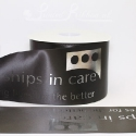 100mm Black logo printed custom personalised satin ribbon