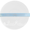 10mm wide light blue custom printed bespoke personalised light blue satin ribbon