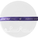 10mm Purple ribbon with personalised wedding message. bespoke wedding ribbon - 25m roll