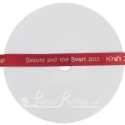 10mm Red personalised printed wedding ribbon 25m roll