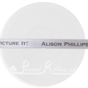 10mm wide printed satin ribbon personalised wedding ribbon printed with wedding couple names silver wedding day ribbon