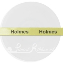 10mm yellow printed ribbon, personalised wedding ribbon 25m