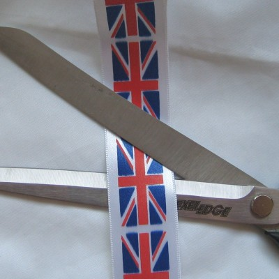 PRUNIONJACKMETRE25MM 25mm Wide Printed Union Jack Ribbon - sold by the printed metre