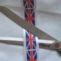 25mm Union Jack printed ribbon cut by the printed metre