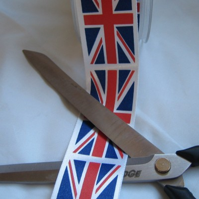 PRUNIONJACKMETRE35MM 35MM Wide Printed Union Jack Ribbon - sold by the printed metre