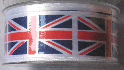 PRUNIONJACK20M35MM 20M Roll of 35mm Wide Union Jack Printed Ribbon