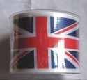 70mm wide Union Jack Ribbon printed 20m length roll
