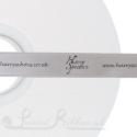 50jm roll bespoke custom printed silver 15mm satin ribbon