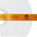 15mm custom printed personalised orange satin ribbon 50m roll