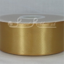 50mm wide gold double faced satin woven ribbon 50m long competitive price