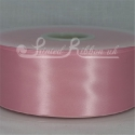50mm wide light pink double faced satin woven ribbon 50m long competitive price
