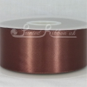 50mm wide coffee double faced satin woven ribbon 50m long competitive price