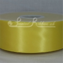 50mm wide yellow plain double faced satin ribbon 50m roll value for money