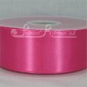 50mm wide fuchsia double faced satin woven ribbon 50m long competitive price