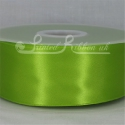 50mm wide light green kiwi plain double face satin ribbon great quality